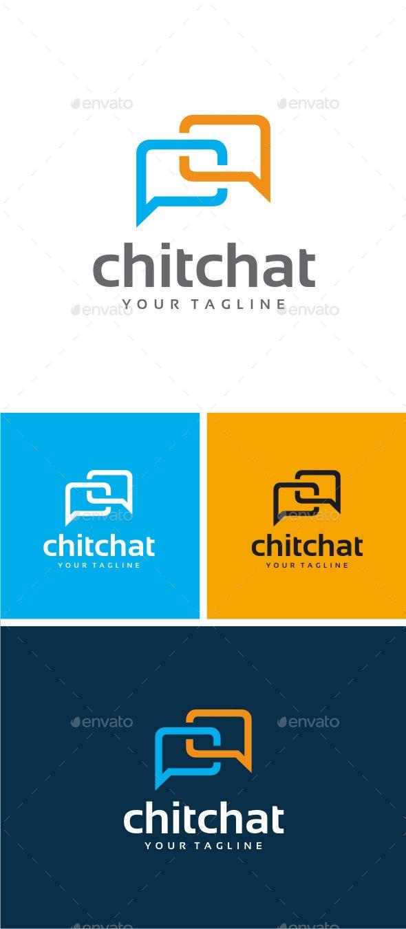 Chat Logo - Symbols Logo Templates