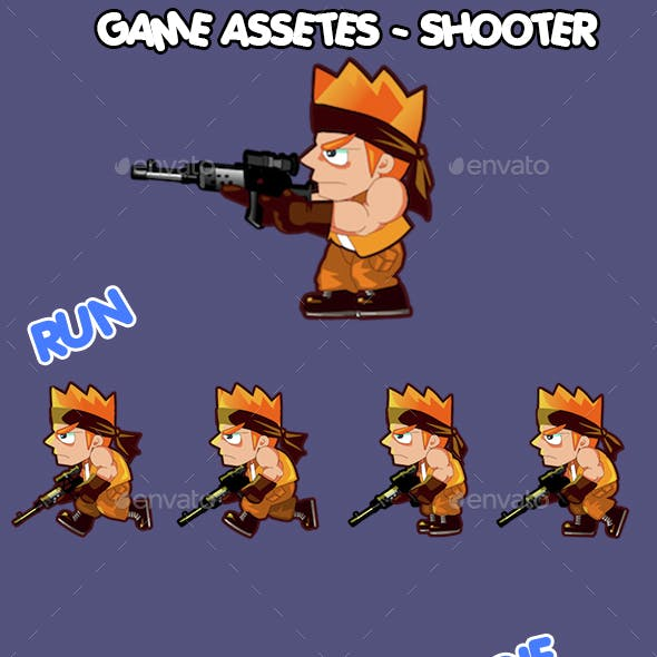 shooter boy game character sprite