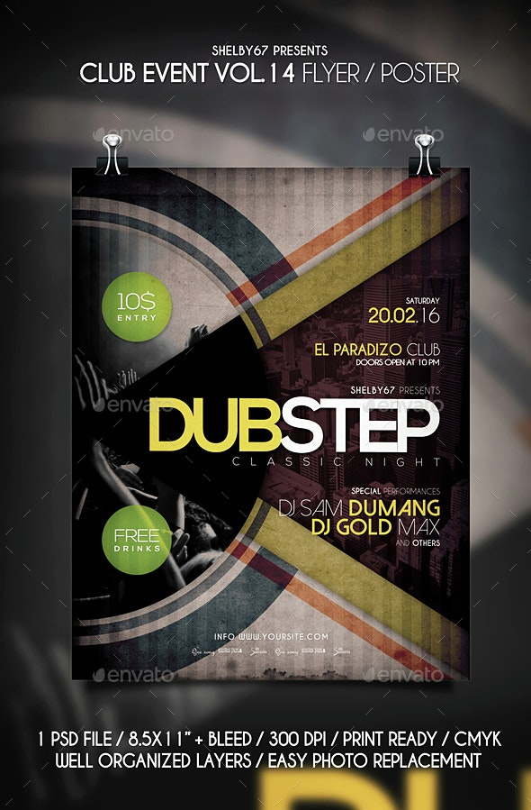 Club Event Flyer / Poster Vol 14 - Events Flyers
