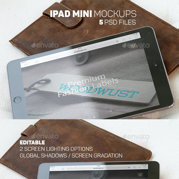 iPad Mini Apple Tablet Mockups