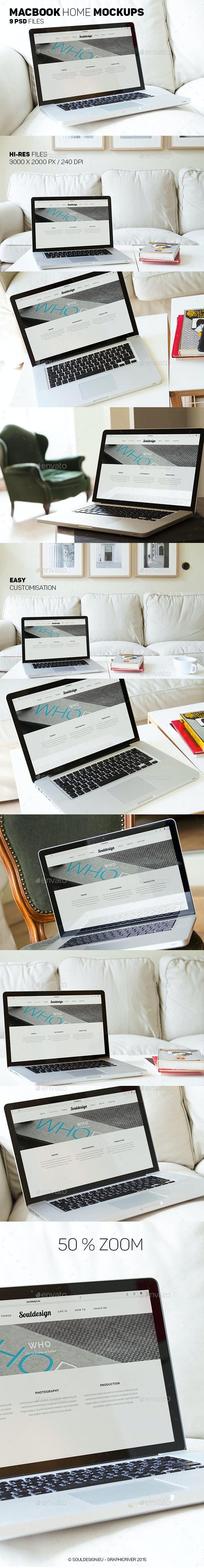 Premium MacBook Mockups - Laptop Displays