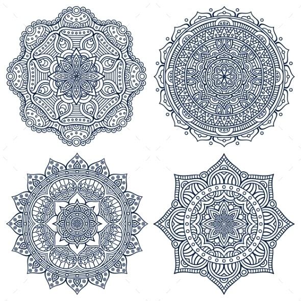 Mandala in Ethnic Style - Decorative Symbols Decorative