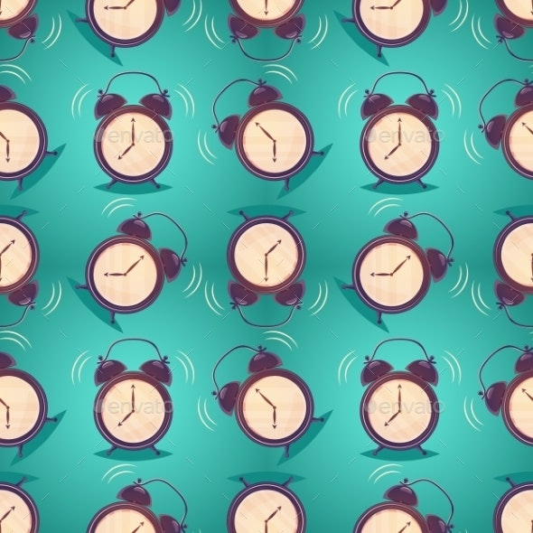 Cartoon Alarm Clock - Backgrounds Decorative