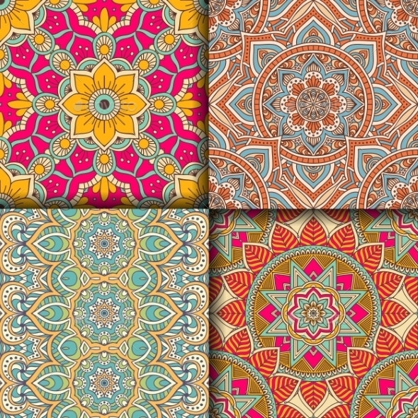 Ethnic Floral Seamless Pattern - Patterns Decorative