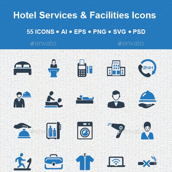Hotel Services & Facilities Icons