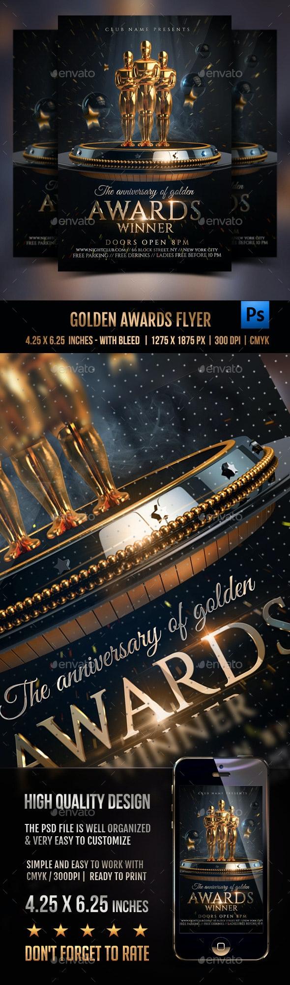 Golden Awards Flyer - Events Flyers