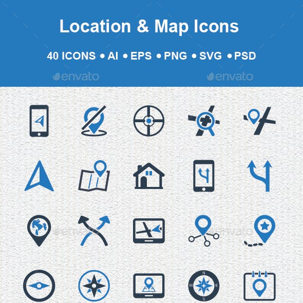 Location & Map icons