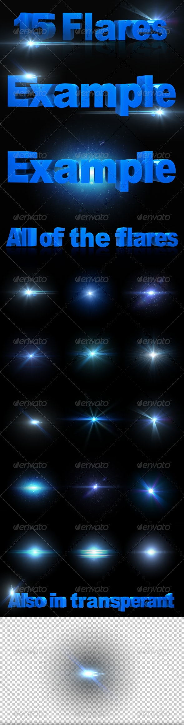 15 HD Optical/Lens Flares - Decorative Graphics