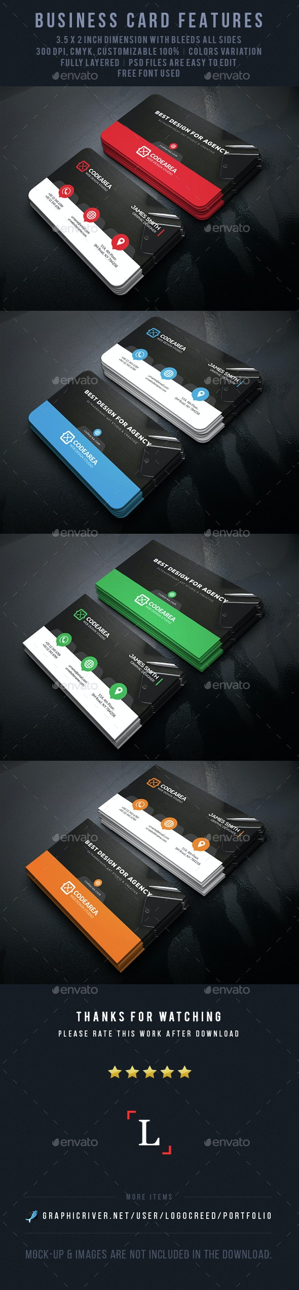 Agency Corporate Business Card - Business Cards Print Templates