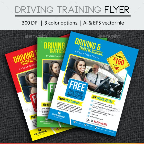 Driving Training Flyer