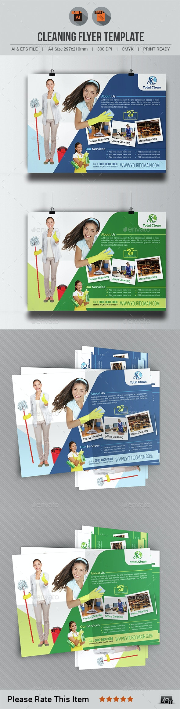 Cleaning Flyer Template V3 - Commerce Flyers