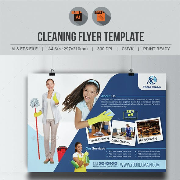 Cleaning Flyer Template V3
