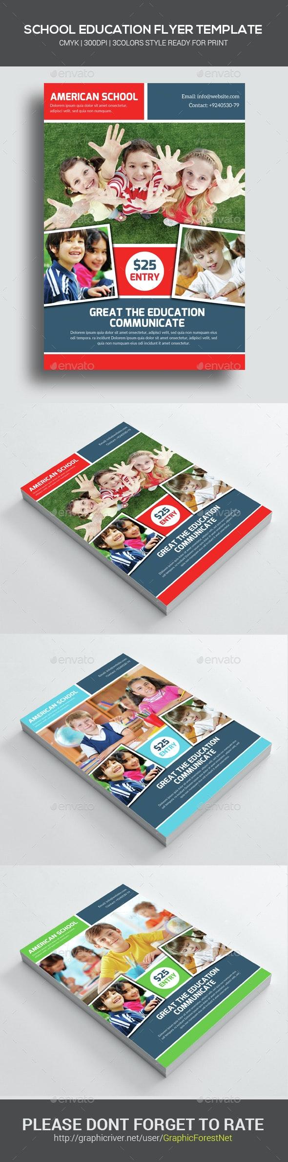 Kids School Education Flyer Template - Corporate Flyers