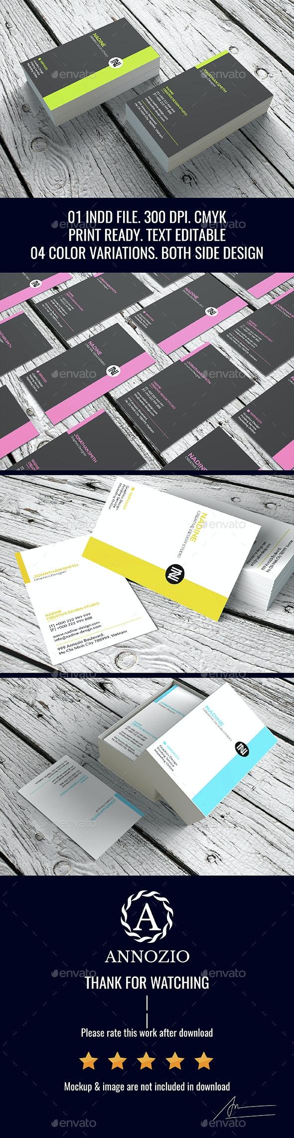 Minimal Business Card InDesign 0016 - Creative Business Cards
