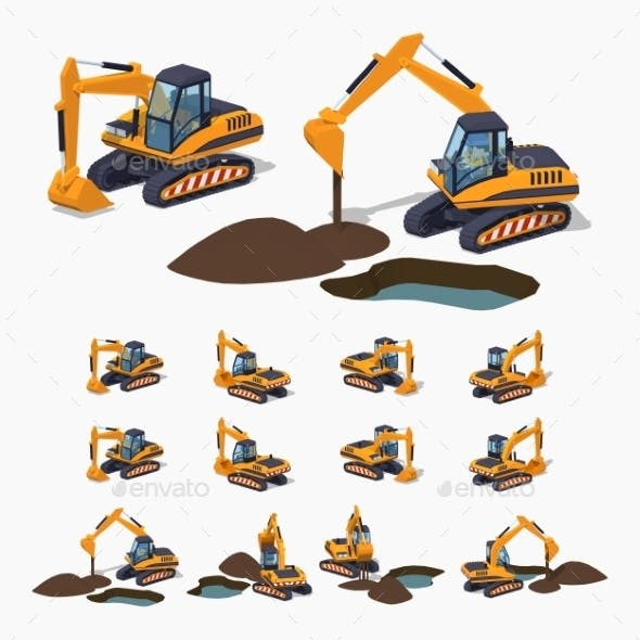Yellow Excavator Special Machinery