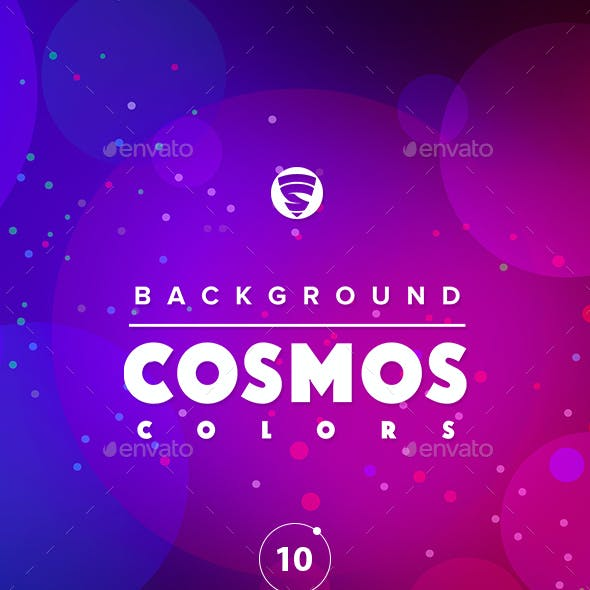 10 Backgrounds set Cosmos colors
