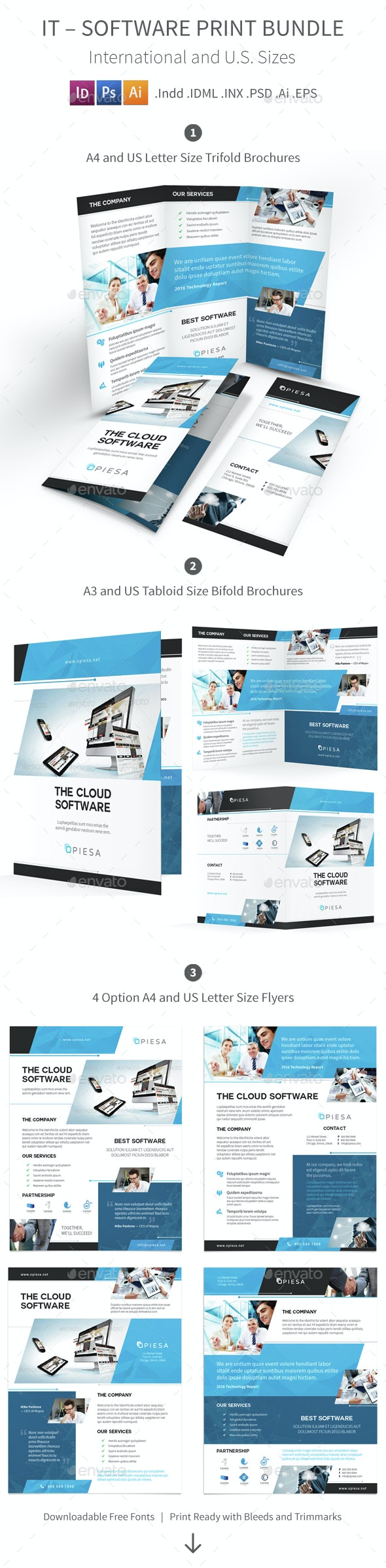 IT – Software Print Bundle 5 - Corporate Brochures