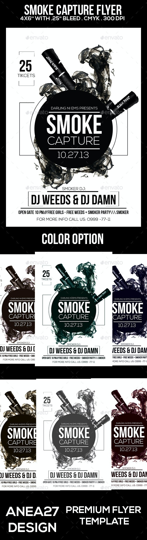 Smoke Capture Flyer - Clubs & Parties Events