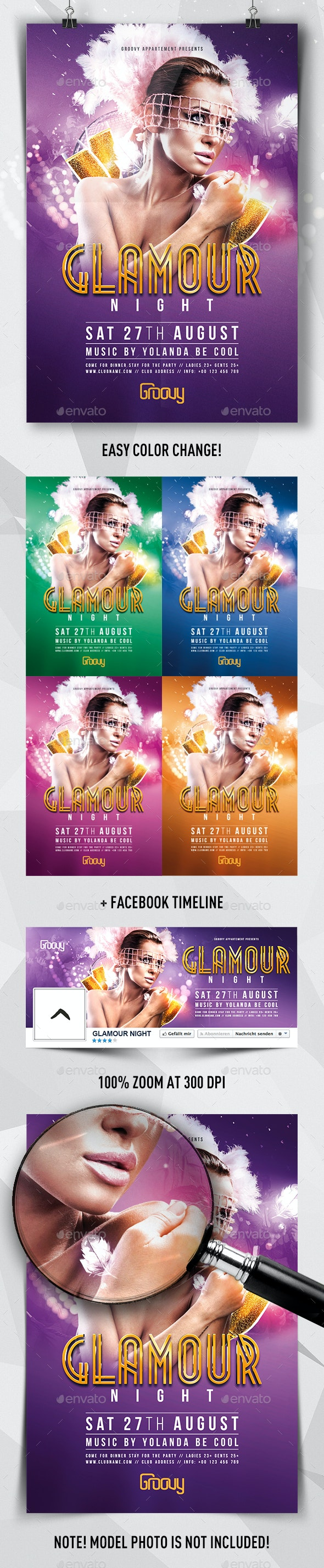 Glamour Night Flyer - Clubs & Parties Events