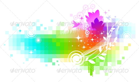 Abstract Colorful Vector Background - Abstract Conceptual