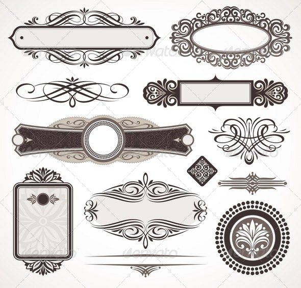 Decorative Design Elements & Page Decor - Decorative Vectors