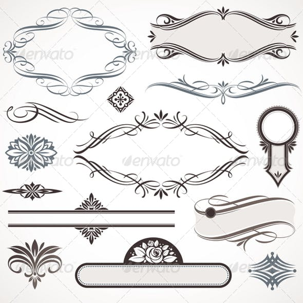 Calligraphic Design Elements & Page Decor