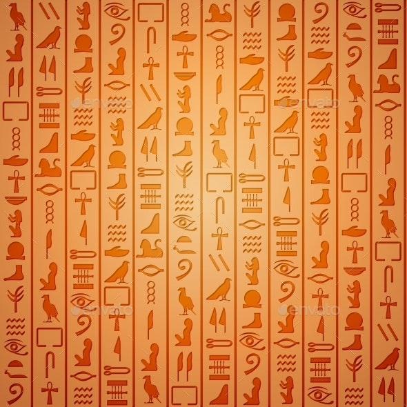 Egyptian Hieroglyphics Background - Backgrounds Decorative