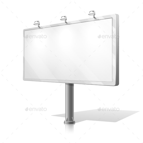 White Billboard Vector - Man-made Objects Objects