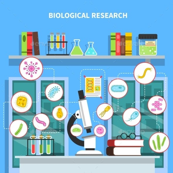Microbiology Concept Illustration