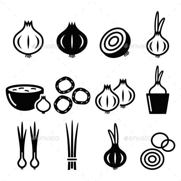 Onion Icons Set