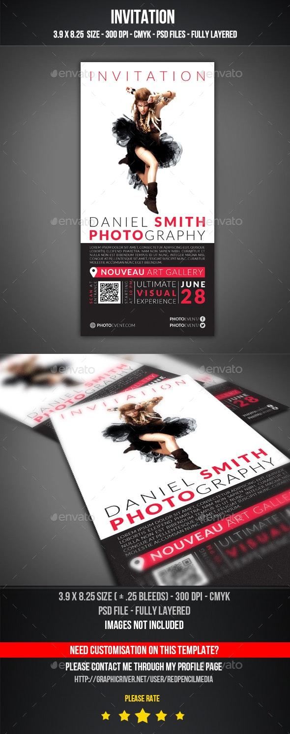 Photography Event Invitation - Invitations Cards & Invites