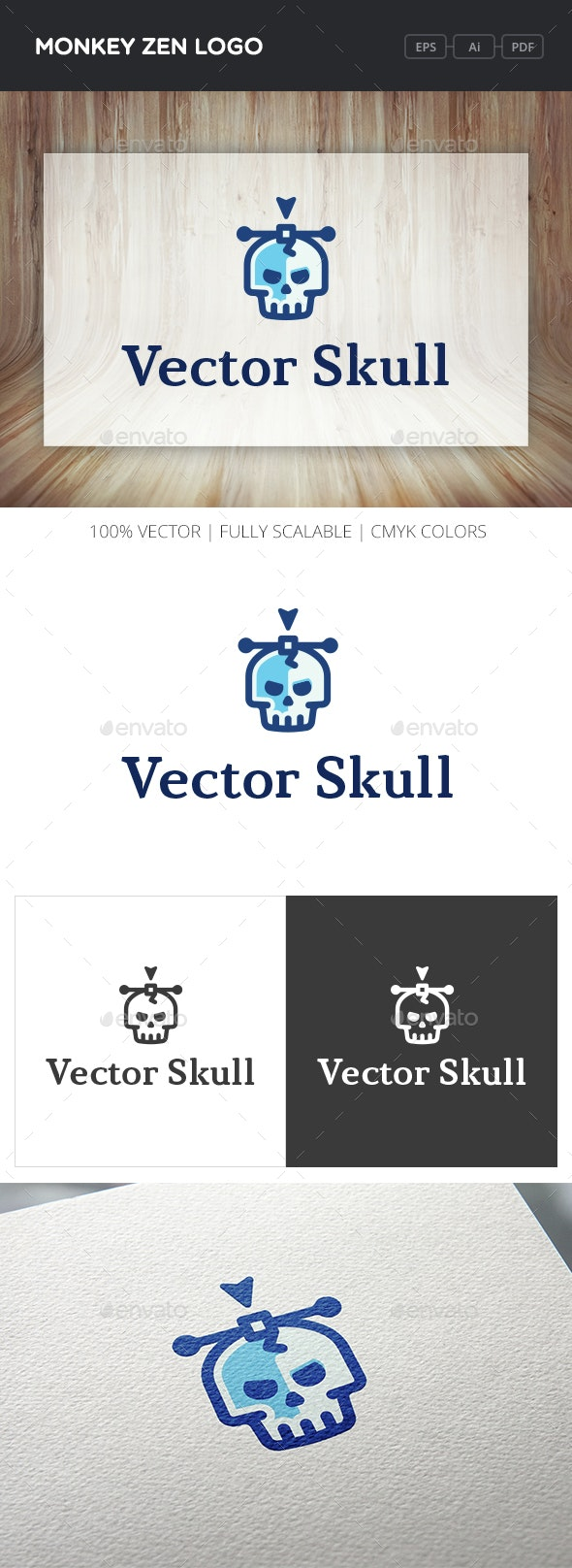 Vector Skull Logo - Symbols Logo Templates