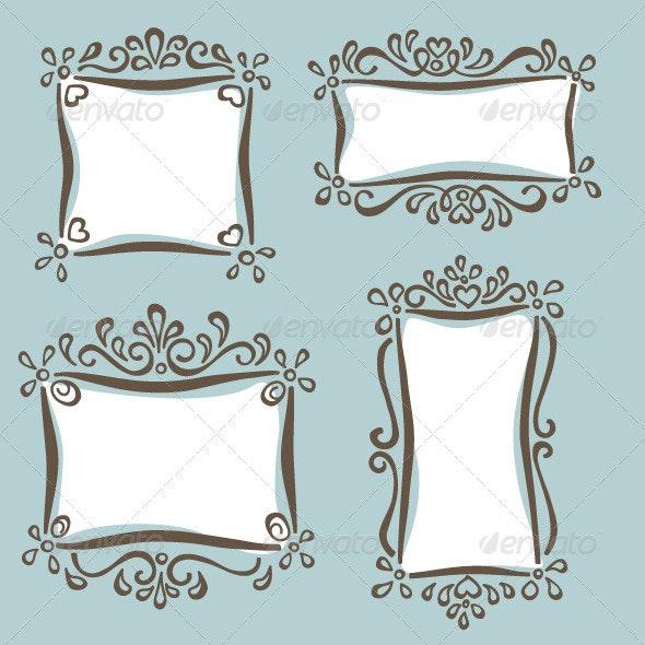 Girly frames (vector) - Decorative Vectors