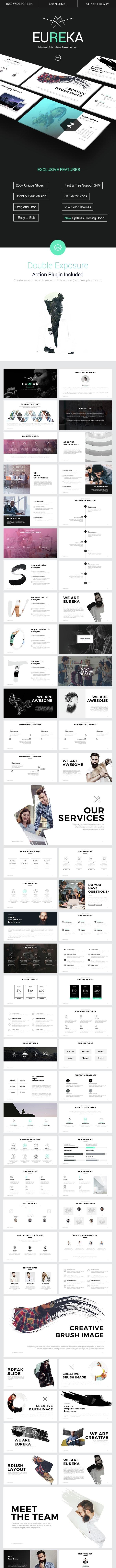 Eureka - Minimal PowerPoint Template - Business PowerPoint Templates