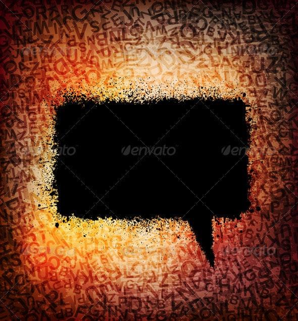 Speech bubble - Backgrounds Decorative