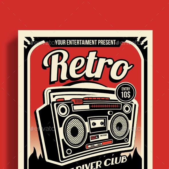 Retro Music Radio Flyer Poster