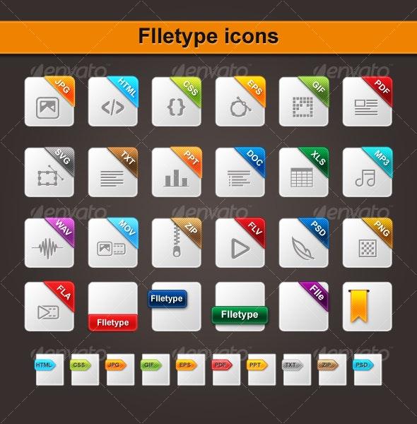 FIletype icons - Web Icons