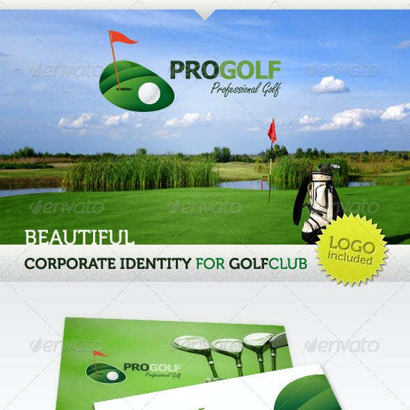 ProGolf Logo & Corporate Identity