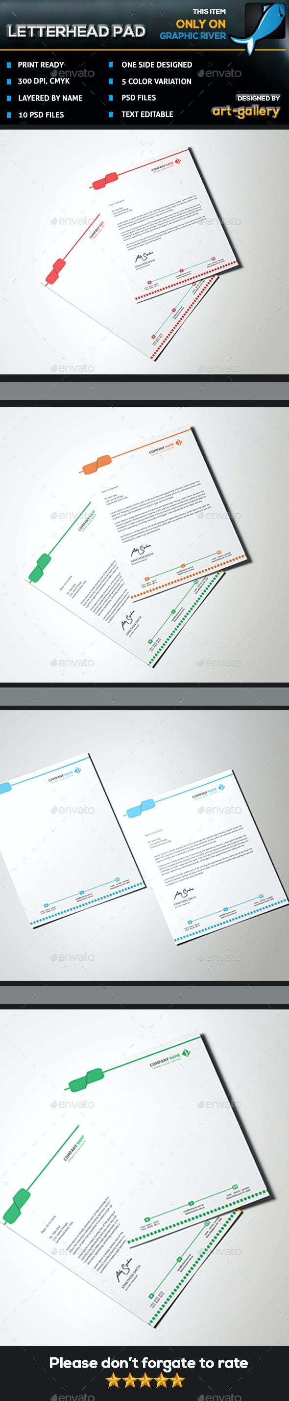 Letterhead L5 - Stationery Print Templates