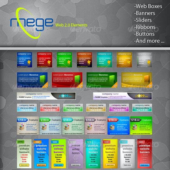Mega Web 2.0 Elements