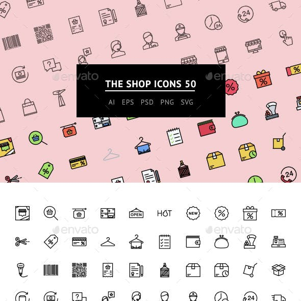 The Shop Icons 50