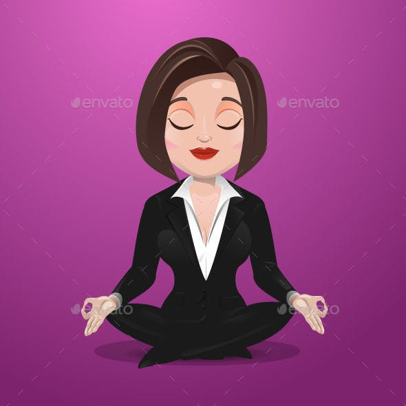 Business Woman Practicing Meditation
