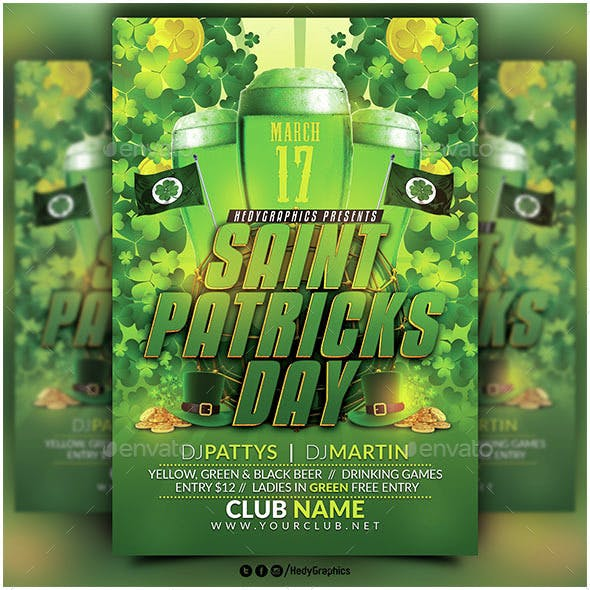 Saint Patricks Day- Flyer Template
