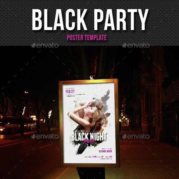 Black Party Event Poster