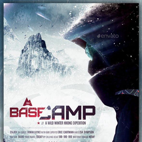 BaseCamp - Winter Hiking Flyer Template