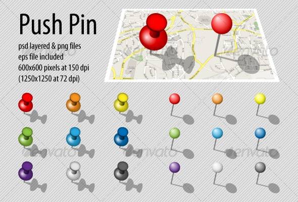 push pin - Business Icons