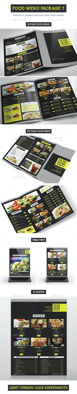 Food Menu Package 7 - Food Menus Print Templates