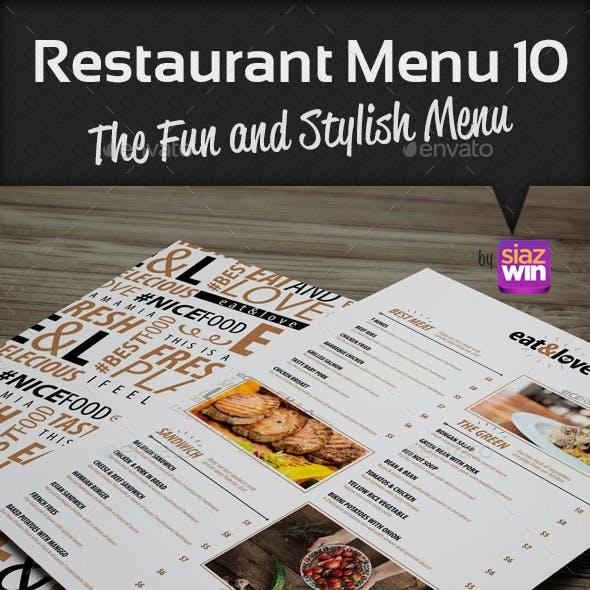 Restaurant Menu 10