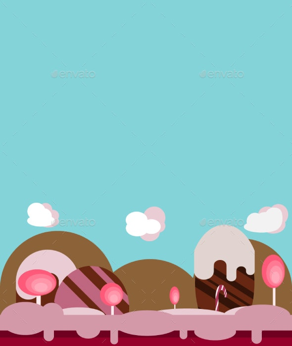 Candy Game Background - Backgrounds Game Assets