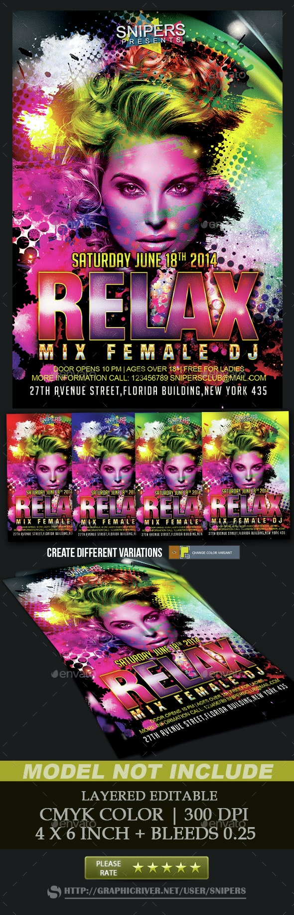 Guest Dj - Events Flyers